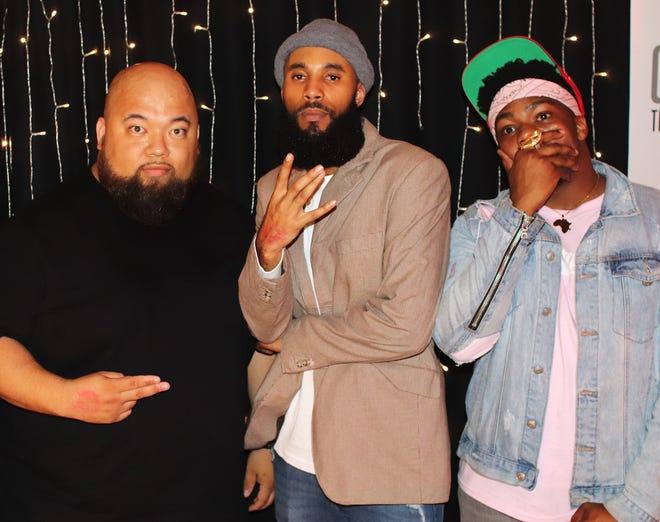 From left: DJ Bern, Tripp Fontane and Malcolm White, organizers of the event.