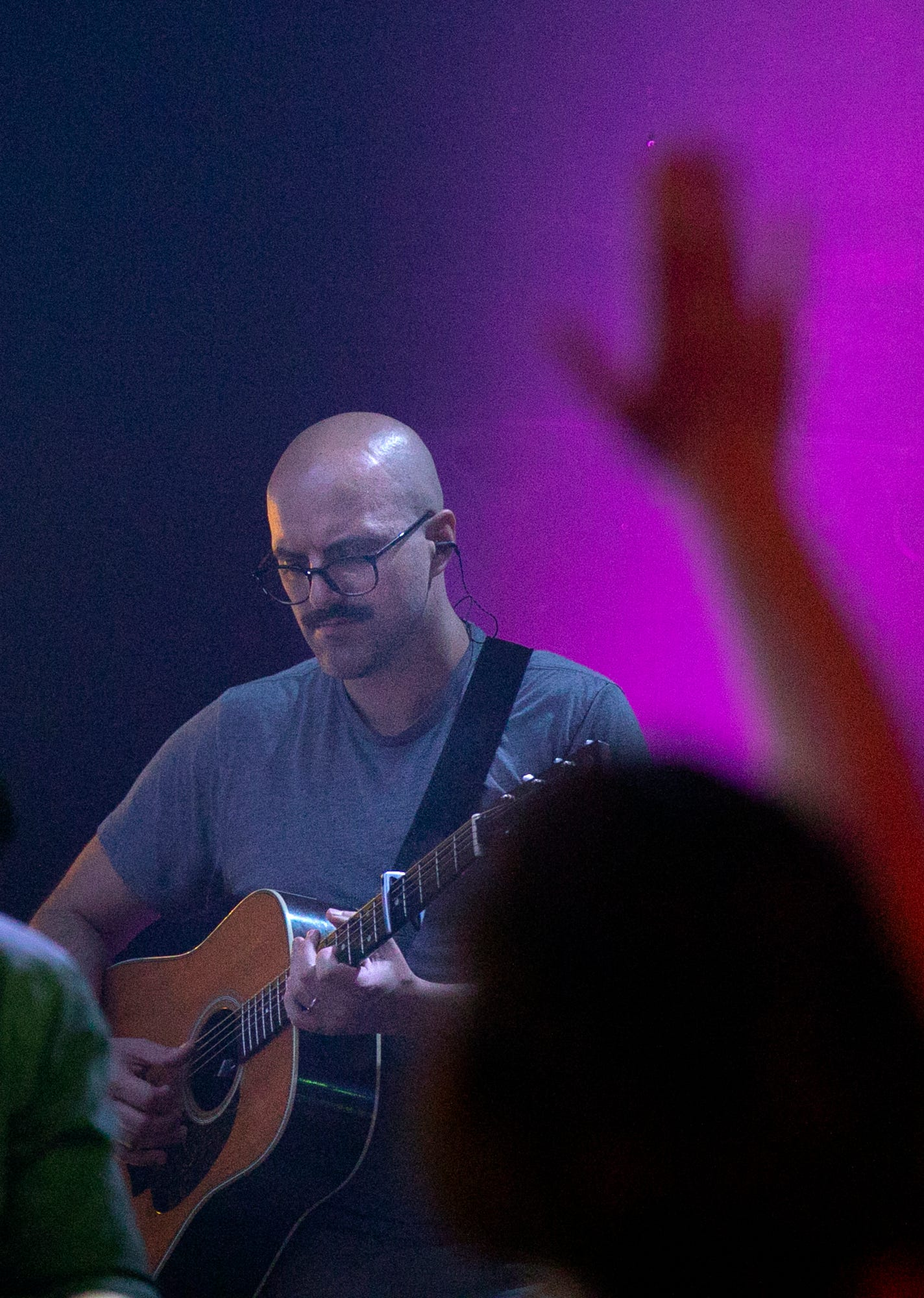 Chris Graham plays guitar in LIFE Vineyard Church's band on the Near East Side, where he has become involved in church again.