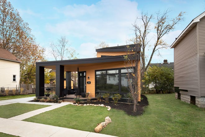 The Columbus Legacy House, completed in 2019 by Moody Nolan, is located in the Linden neighborhood and was given away to a family in need.