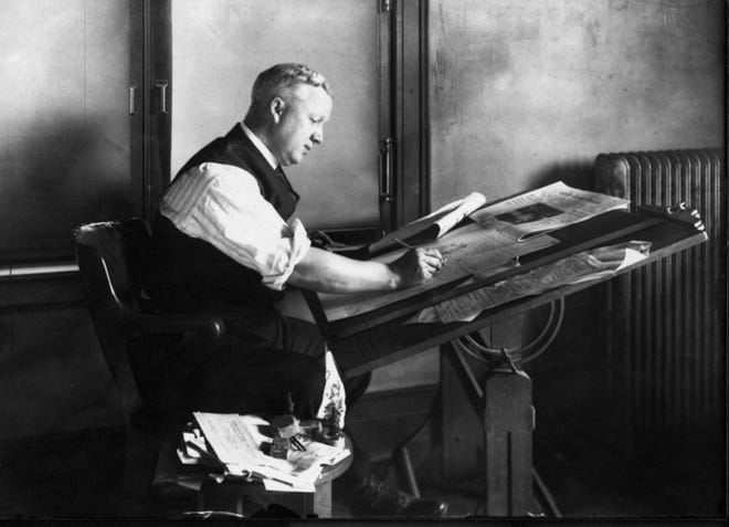 """Unlike humorist and writer James Thurber who also worked at the Columbus Evening Dispatch before rising to national fame, cartoonist William """"Billy"""" Ireland was content to stay in central Ohio -- entertaining and advocating for political change."""
