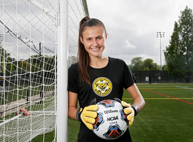 Abby Reisz, a senior soccer player at Upper Arlington, was voted the No. 1 player in the state on the Dispatch's list of the top 21 girls soccer players in the state. Reisz is committed to Tennessee where she'll play goalkeeper. She was named to the player pool for the U18 national team in May.