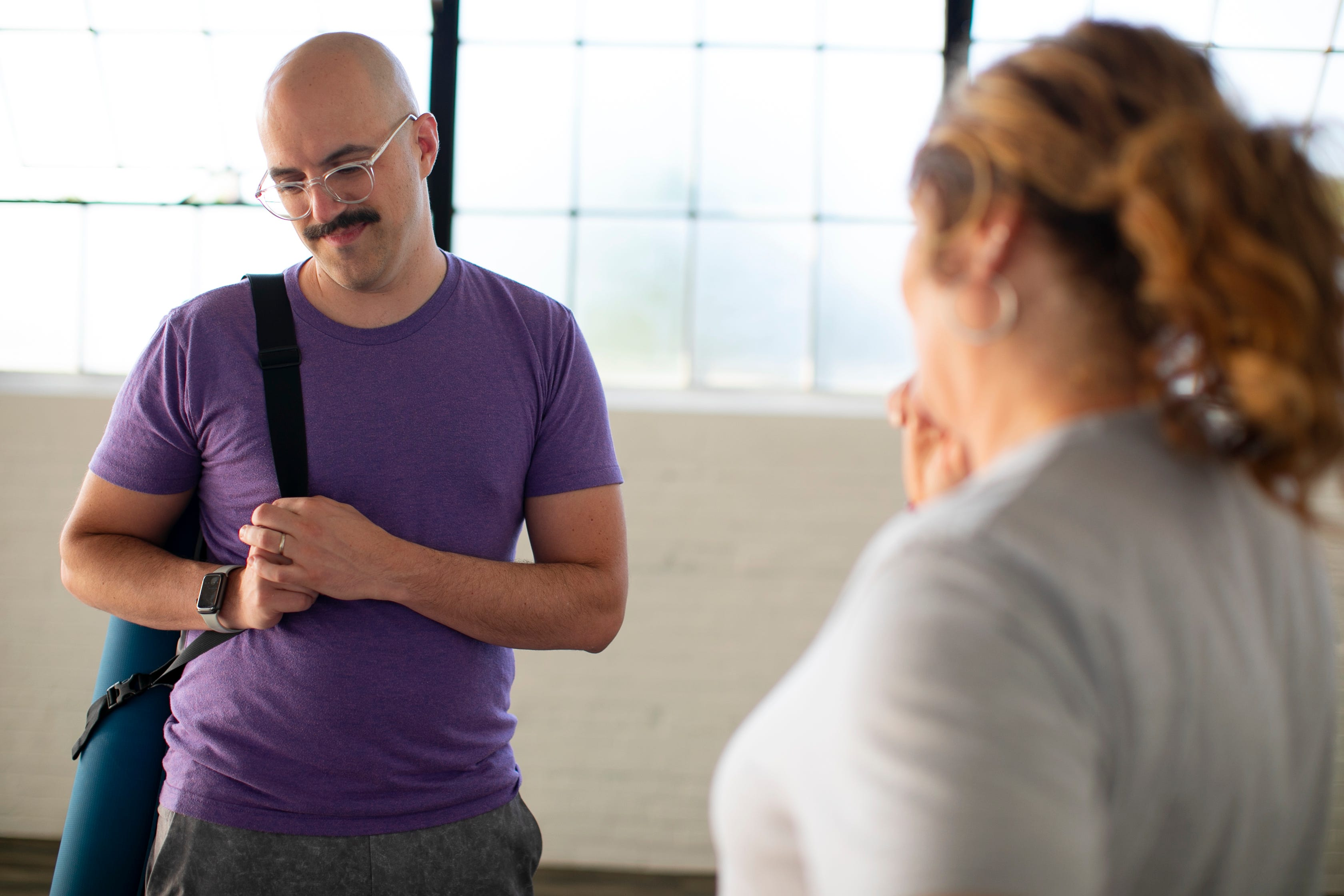 Yoga has taught Chris Graham to connect with his body, whereas before, he would often feel as if he was experiencing things from outside his own body.