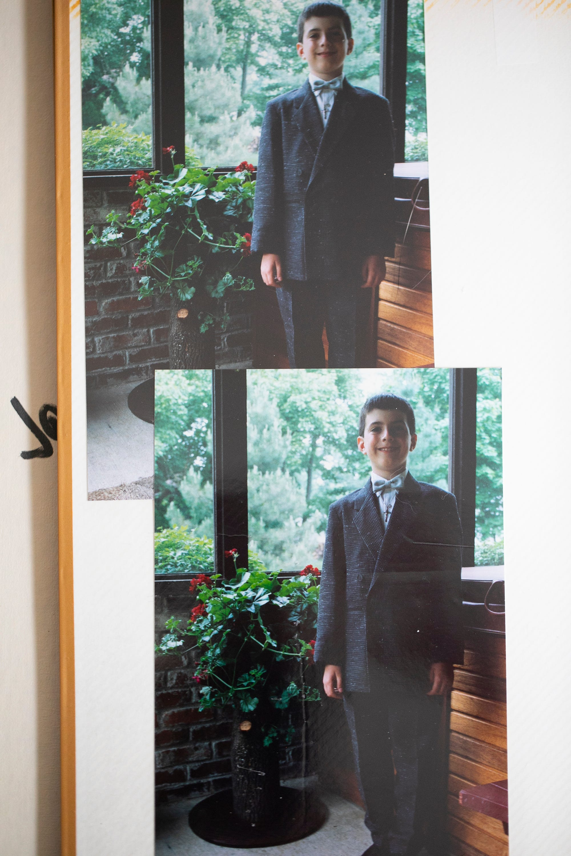 First communion photos of Chris Graham, now 39, who was raped by a priest in Columbus when he was 14-years-old.