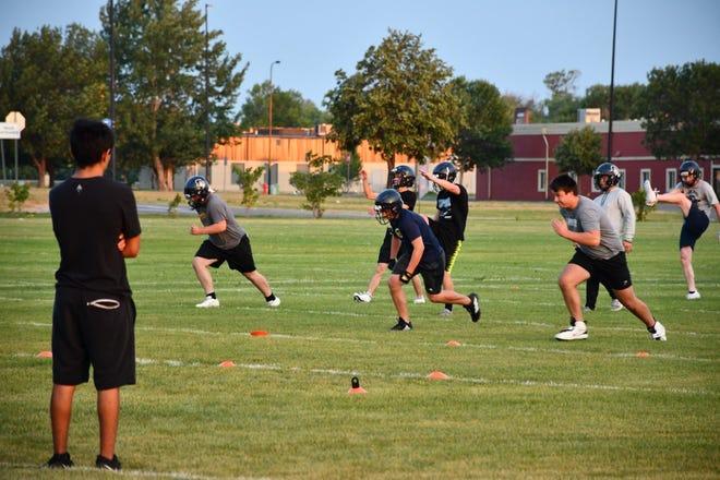 Football practice August 16