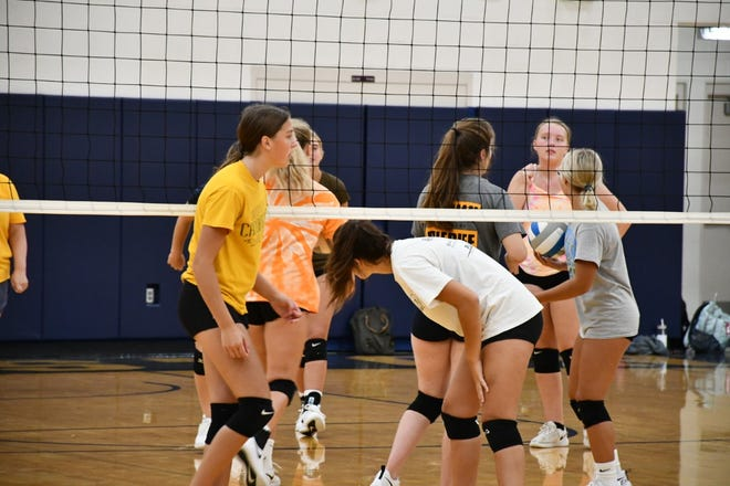 Volleyball practice August 16`