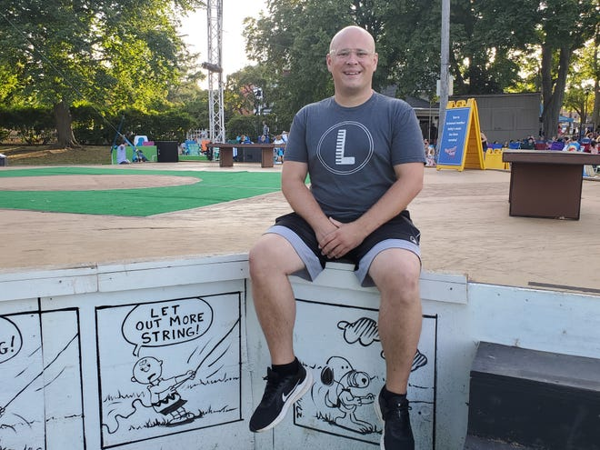 Dover's Kevin Mahaney played the role of Charlie Brown in the Prescott Park Arts Festival's production this summer.