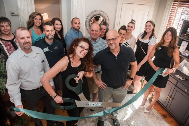 Representatives from the Greater Dover Chamber of Commerce joined Monet Massage Therapy at the 8 Atkinson Street massage studio for a ribbon cutting ceremony to welcome Monet Massage to the chamber.
