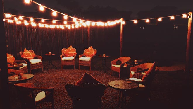 With a few supplies and a little creativity, brightening your backyard and enhancing your backyard life at night can be a simple DIY project.