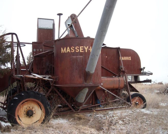 Back in the day, the Massey-Harris was a gem of a combine, used by harvest crews that organized in Greensburg and headed north to cut wheat.