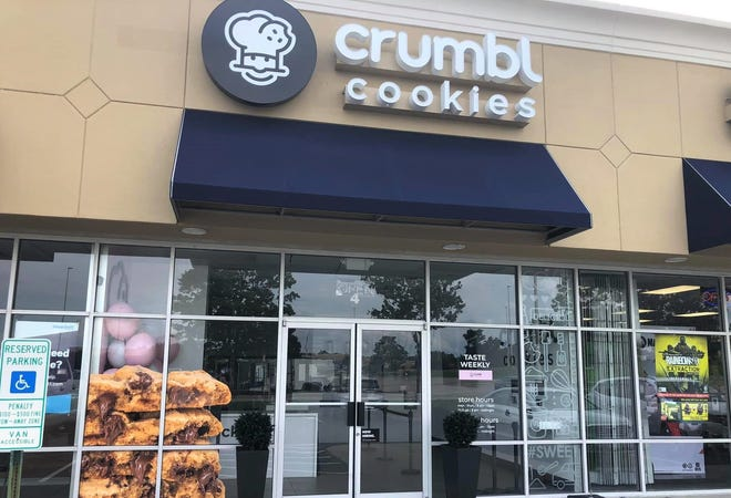 Crumbl Cookies storefront in Colonial Heights, Va. on Aug. 15, 2021.