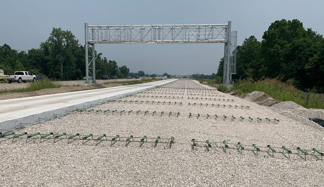 INDOT gets ready to add new pavement along the future I-69 corridor.