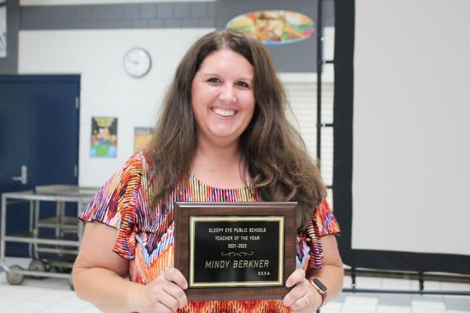 Mindy Berkner was honored as Sleepy Eye Public School Teacher of the Year.