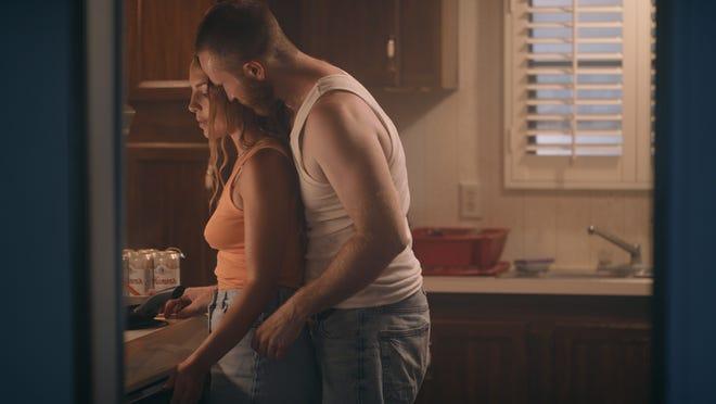 "Kristi Ray portraying Cheyenne and Hadyn Winston portraying Alex in ""A Song For Imogene.'"