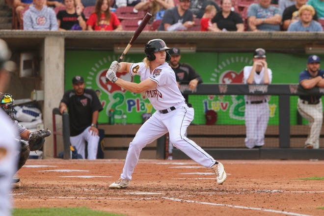 Joey Wiemer hit .336 with 14 homers and 33 RBI in 34 games after his  promotion to the High-Class A Wisconsin Timber Rattlers this season.