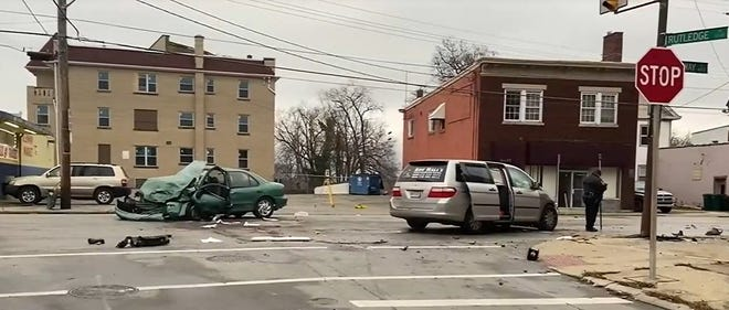 Scene of the Dec. 24, 2020 crash that killed Gail Duncan, 65, and seriously injured 58-year-old Gladys Hutcheon.