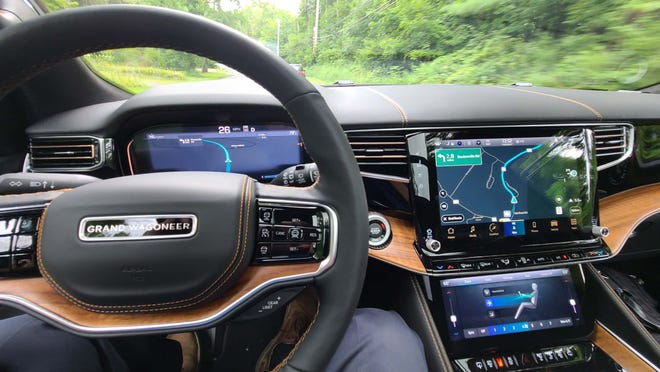 The 2022 Jeep Grand Wagoneer can be had with up to 75-inches of screen.
