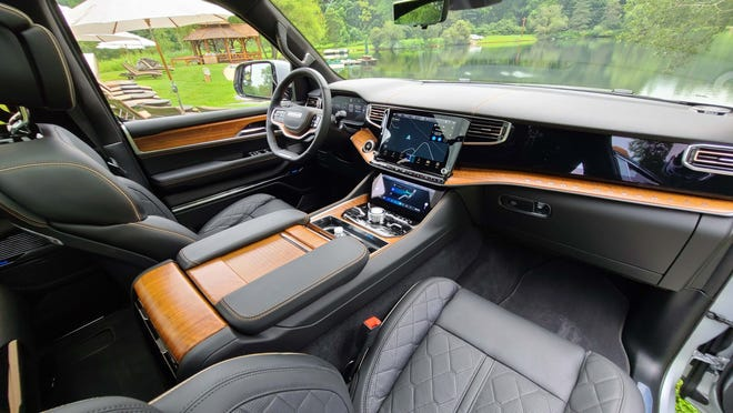 The interior of the 2022 Jeep Grand Wagoneer is the largest in class.