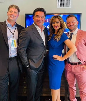 A second Christian-based film is slated to be made in Mansfield in November with actors Dean Cain, Kevin Sorbo and Eddie McClintock. Left to right are: Jason Campbell, Dean Cain, Kimberly Yeager Miller and Shane Yuhas of JC Films.