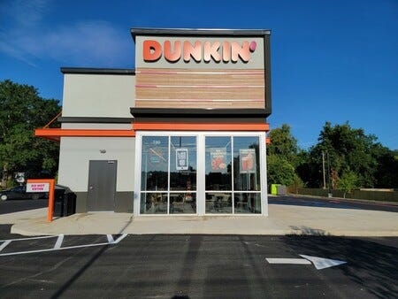 """The new Dunkin' at 790 Ann Street features the chain's """"next gen"""" store design."""