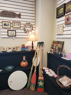 Paintings, home décor, hand carved wood pieces, and ceramic coffee mugs are some of the items that will be for sale at the Pike Road Arts Center's First Thursday on Sept. 2. Shoppers can explore and choose from handmade gifts and original art by Alabama artists available in the Arts Center's Water House Gallery.
