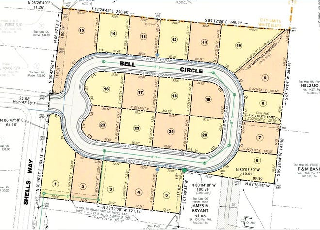 The final plat of phase 4 of the Bell Forge subdivision in White Bluff.