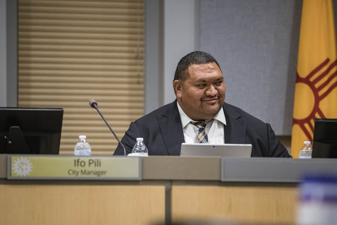 Ifo Pili attends a City Council meeting at the Las Cruces City Hall on Monday, Aug. 16, 2021.