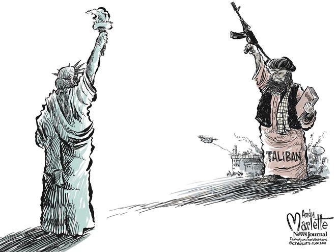 Marlette cartoon: Taliban takeover