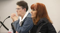 Victoria Bowmann, right, and Mlee Clark serve on the Arizona State Board of Massage Therapy, the five members of which are appointed by the governor. The board has historically been dominated by massage therapists.