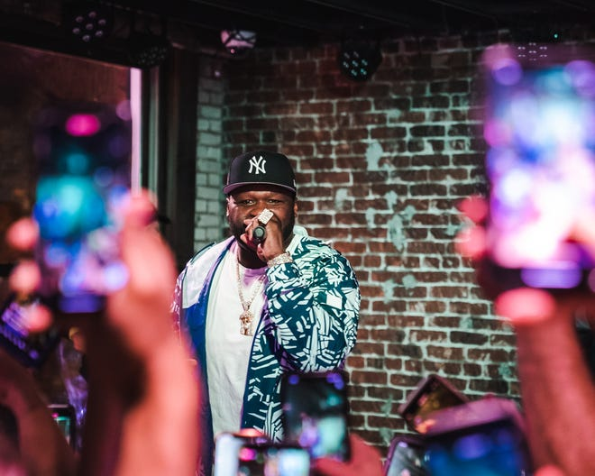 50Cent performs at Pave this weekend.