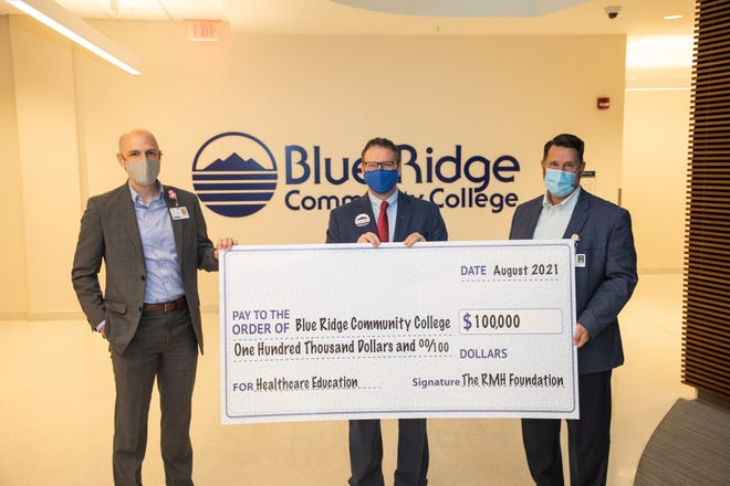 The RMH Foundation has awarded $100,000 to Blue Ridge Community College (BRCC), helping fund its healthcare education initiative.