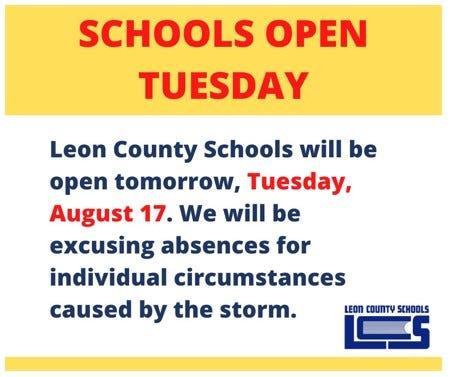 Screen shot of tweet by Leon Schools