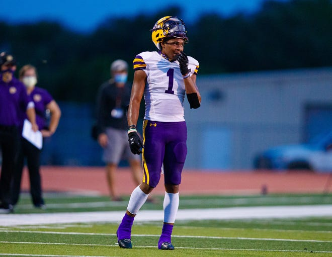 La Grange wide receiver Bravion Rogers and the Leopards start district play with a home game versus Cuero Friday.