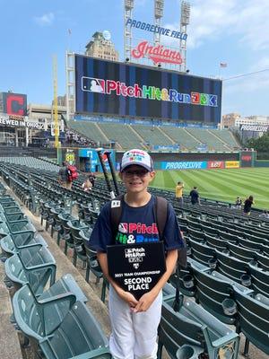 Alex Urrea at the MLB Pitch, Hit & Run Cleveland team championship at Progressive Field on Aug. 7