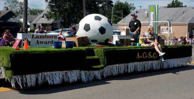 Greater Alliance Carnation Festival Grand Parade Lamborn Award winner, Alliance Community Soccer Club.