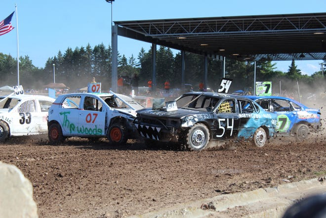 There was a lot of carnage that took place at the annual bump and run derby at the Cheboygan County Fair Saturday evening. There were multiple heats where drivers battled others to try to make it around the track without getting their vehicles wrecked in the process.