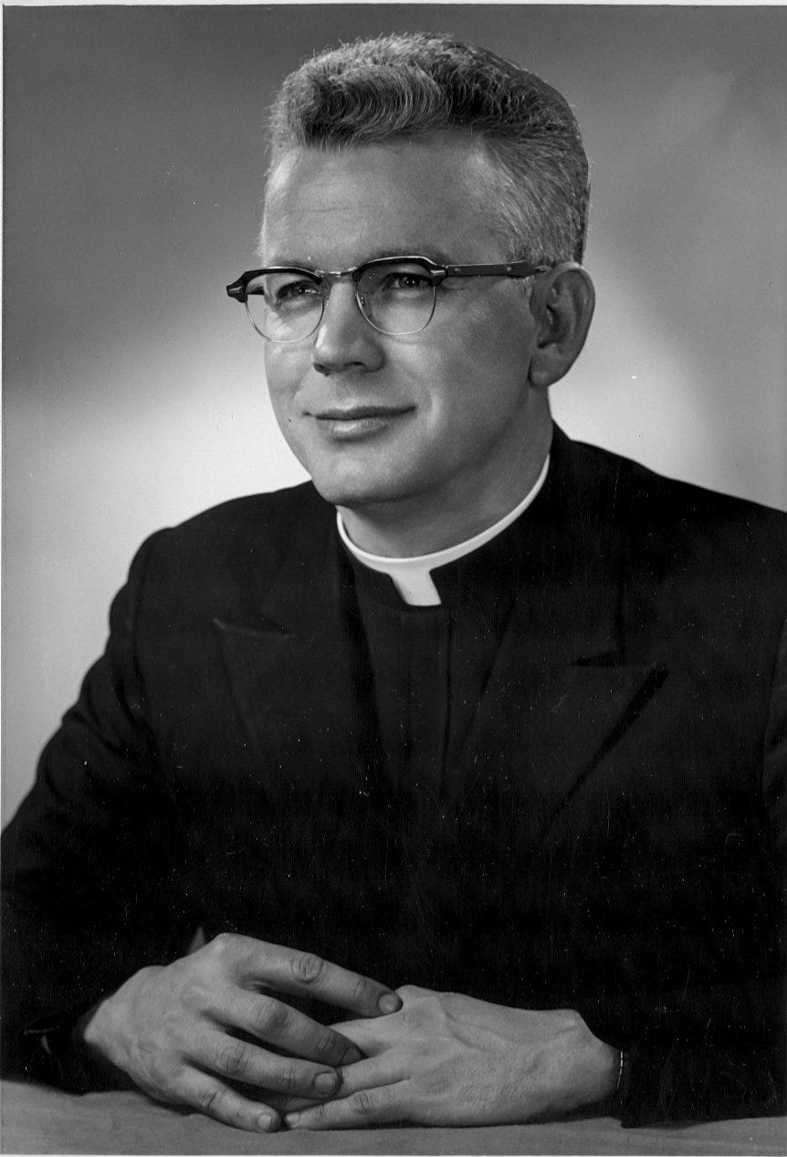 A 1966 photo of the Rev. Raymond Lavelle, when he was assistant pastor of St. Mary Parish in Lancaster. He died in 2015.