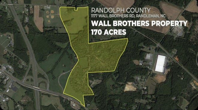 A property on Walls Brothers Road in Sophia was chosen for Duke Energy's Site Readiness Program.