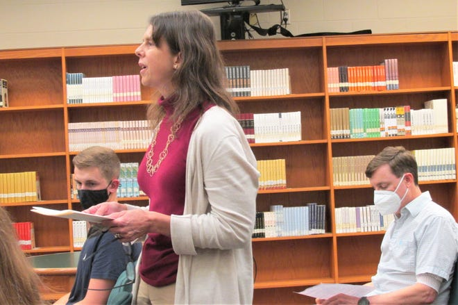 Dr. Laura Barr expresses her concern over the West Holmes Board of Education's decision to make masks optional in buildings and on school buses as the school year begins this week.