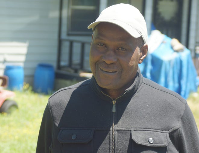 Willie Moore on his farm near Holly Springs Mississippi in 2016.