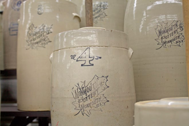 Part of the work being done at Monmouth's Stoneware Museum is using catalogs to identify and date the pieces in the collection based on markings and stamps. Two local museums will host a collaborative event next month showcasing the history of Western Stoneware pottery in Monmouth.