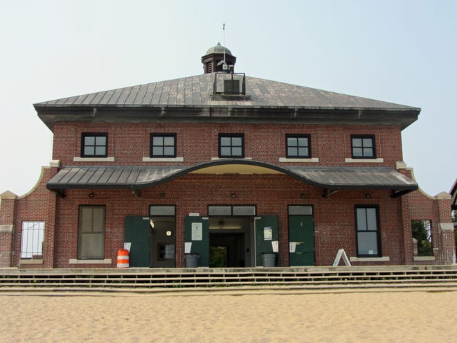 The Edward J. McCormack Bathhouse at Carson Beach in South Boston was originally built in 1925. It's still used today.