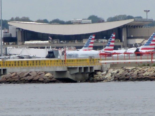 Here's Logan Airport as seen from Castle Island in South Boston.