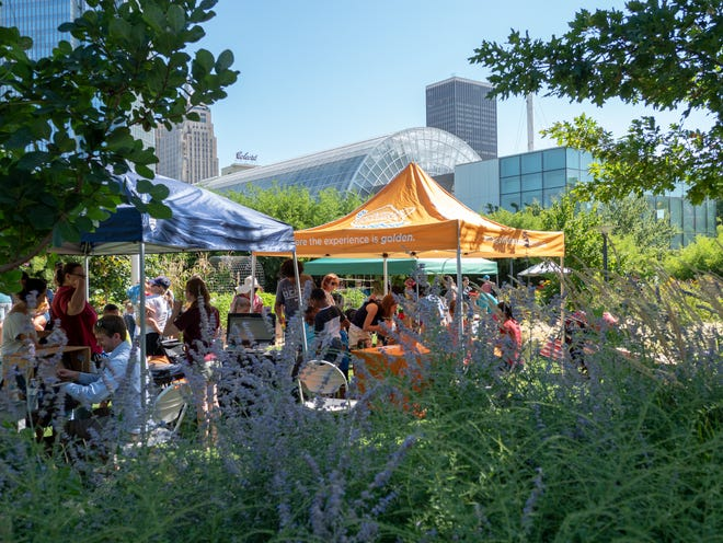 Participants in a previous BUG OUT event at Myriad Gardens. The next one will be from 10 a.m. to 2 p.m. Sept 11.