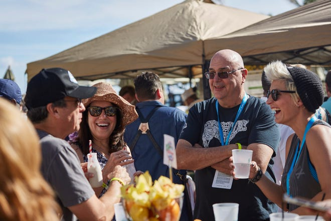 """A snapshot from sunny Palm Beach during the Palm Beach Food and Wine Festival's """"Chillin' n' Grillin'"""" cookout event in 2017 at the Four Seasons resort. This year, the event will be staged at the Eau Resort in Manalapan."""