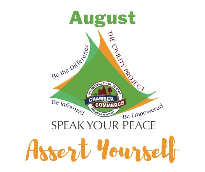 """Speak Your Peace features """"Assert Yourself"""" in August."""