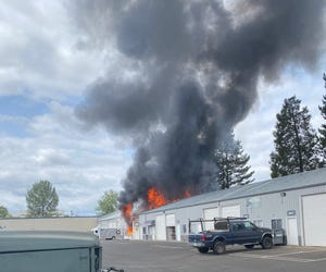 A fire broke out in a commercial property Tuesday afternoon in west Eugene. Fire officials are investigating the cause.
