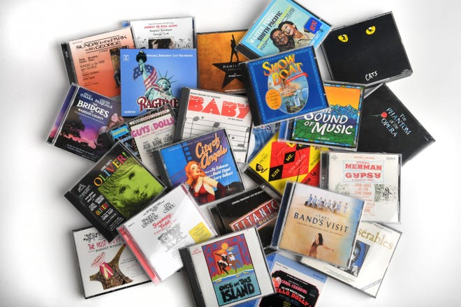 An assortment of theater cast albums considered for inclusion by Herald-Tribune Arts Editor and Theater Critic Jay Handelman for his list of 10 favorites.