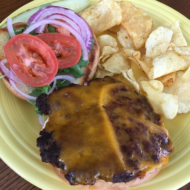 The Black Angus burger from Pease's at Bunn Gourmet.