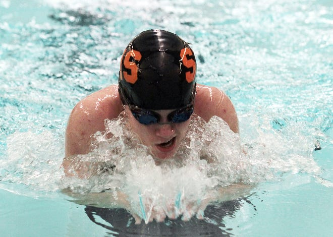 Katie Strawser, senior at Sturgis, is one of the leaders for the Lady Trojans in the pool this fall.