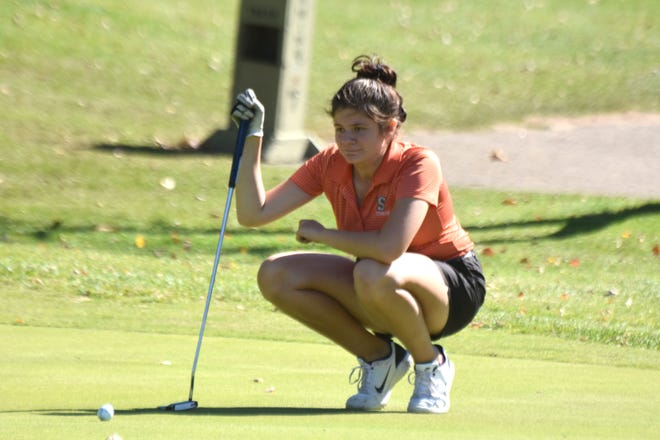 Sturgis senior Mia Moreno will look to help the Trojan golf team to another strong finish in the Wolverine Conference. Sturgis has won five of the past six league titles.